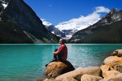 Op het meer stock afbeeldingen