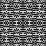 Op het patroonachtergrond van de kunst zwart-witte driehoek stock illustratie