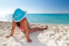 Op het perfecte strand Stock Fotografie