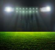 Op het stadion.