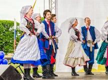 Op het stadium het Poolse volksdansensemble GAIK Royalty-vrije Stock Afbeelding
