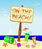Op het strand! Royalty-vrije Stock Afbeelding