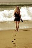 Op het strand Royalty-vrije Stock Afbeelding