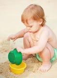 Op het strand Stock Afbeelding