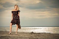 Op het strand. Royalty-vrije Stock Foto's