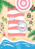 Op het strand vector illustratie