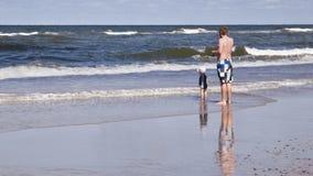 Op het strand Stock Foto's