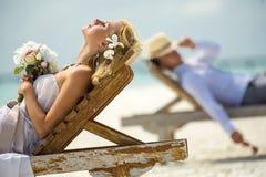 Op het strand stock fotografie