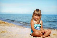 Op het strand Stock Afbeeldingen