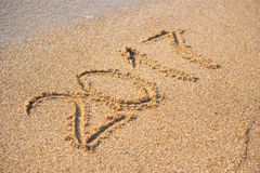 2017 op het strand Stock Afbeeldingen