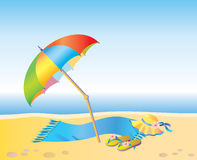 Op het strand Royalty-vrije Stock Foto