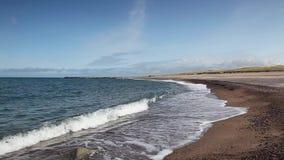 Op het strand in Agger denemarken stock video