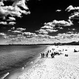 Op het strand Artistiek kijk in zwart-wit Royalty-vrije Stock Foto's