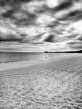 Op het strand Artistiek kijk in zwart-wit Stock Afbeelding