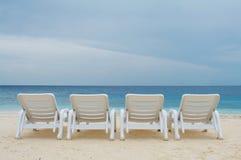 Op het strand van de Oceaan. Stock Foto