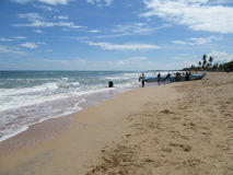 Op het strand van Nilaveli/Sri Lanka Stock Afbeelding