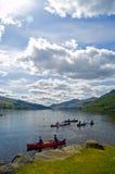 Op het water bij tay loch Royalty-vrije Stock Foto