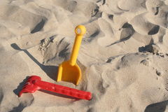 Op het zand Stock Afbeelding