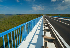 Op hoog viaduct Royalty-vrije Stock Fotografie