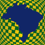 Op illusion Brazil map Royalty Free Stock Photo