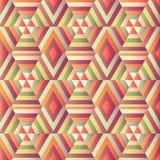 Op illusion för geometrisk sexhörning Royaltyfri Fotografi