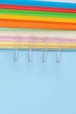 2017 op kleurrijk document Stock Fotografie