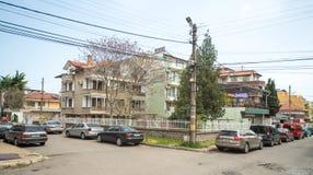 Op kruispunten in Sarafovo, Bulgarije Royalty-vrije Stock Foto