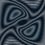 Op kunst, moirépatroon Het ontspannen van hypnotic achtergrond met geometr Stock Foto