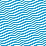 Op kunstgolven Optische illusie gestreept naadloos patroon stock illustratie