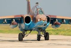 Op:leiden-aanvalsvliegtuigen su-25 Stock Afbeeldingen