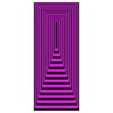 Op Magenta van de Rechthoeken van de Kunst het Concentrische over Zwarte stock illustratie