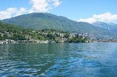 Op Meer Maggiore in Zwitserland Stock Afbeelding