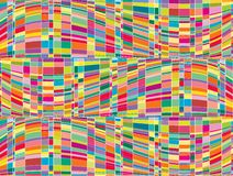 op mosaik för konstfärgmatris stock illustrationer