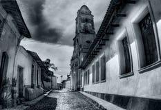 Op oude Caraïbische straat Stock Foto