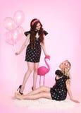 Op roze achtergrond Royalty-vrije Stock Foto's