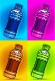 Op smaak gebrachte dranken op kleurenachtergrond Royalty-vrije Stock Foto's
