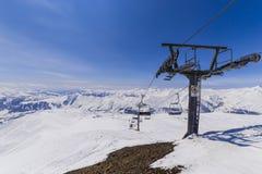 Op stantion narciarski dźwignięcie na Kudebi górze Obrazy Stock