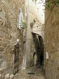 Op steet van Jeruzalem, stad royalty-vrije stock afbeelding