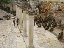 Op steet van Jeruzalem, stad royalty-vrije stock foto's