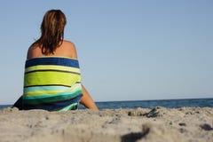 Op strand Royalty-vrije Stock Foto