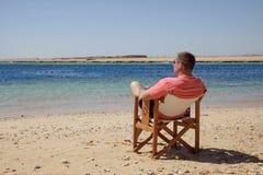 Op strand royalty-vrije stock foto's