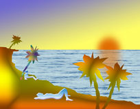 Op strand royalty-vrije illustratie