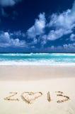 2013 op strand Royalty-vrije Stock Foto