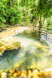 op stroom van de waterval van kuangsi Stock Foto's