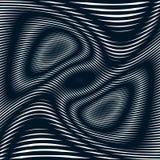 Op sztuka, mora wzór Relaksujący hipnotyczny tło z geometr Zdjęcie Stock