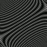 Op sztuka, mora wzór Relaksujący hipnotyczny tło z geometr Fotografia Stock