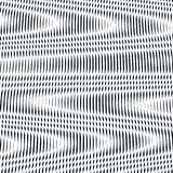 Op sztuka, mora wzór Relaksujący hipnotyczny tło z geometr Zdjęcie Royalty Free