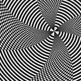 Op sztuki linii ruch czarny i biały ilustracji