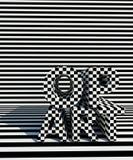 Op sztuki wzór Z powrotem, biali tła i Zdjęcie Stock