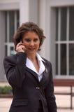 Op telefoon V. Stock Foto's